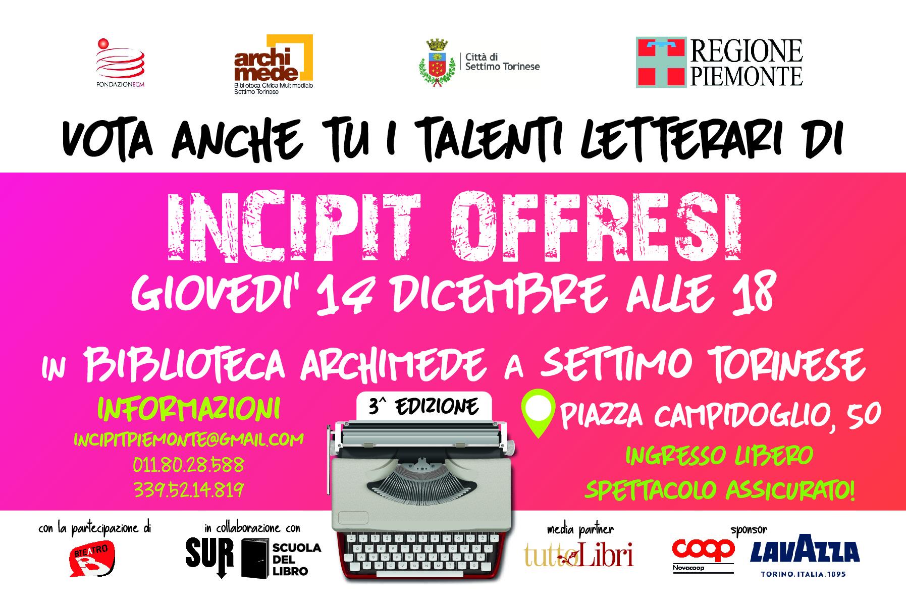 Incipit @ Biblioteca Archimede Settimo T.se