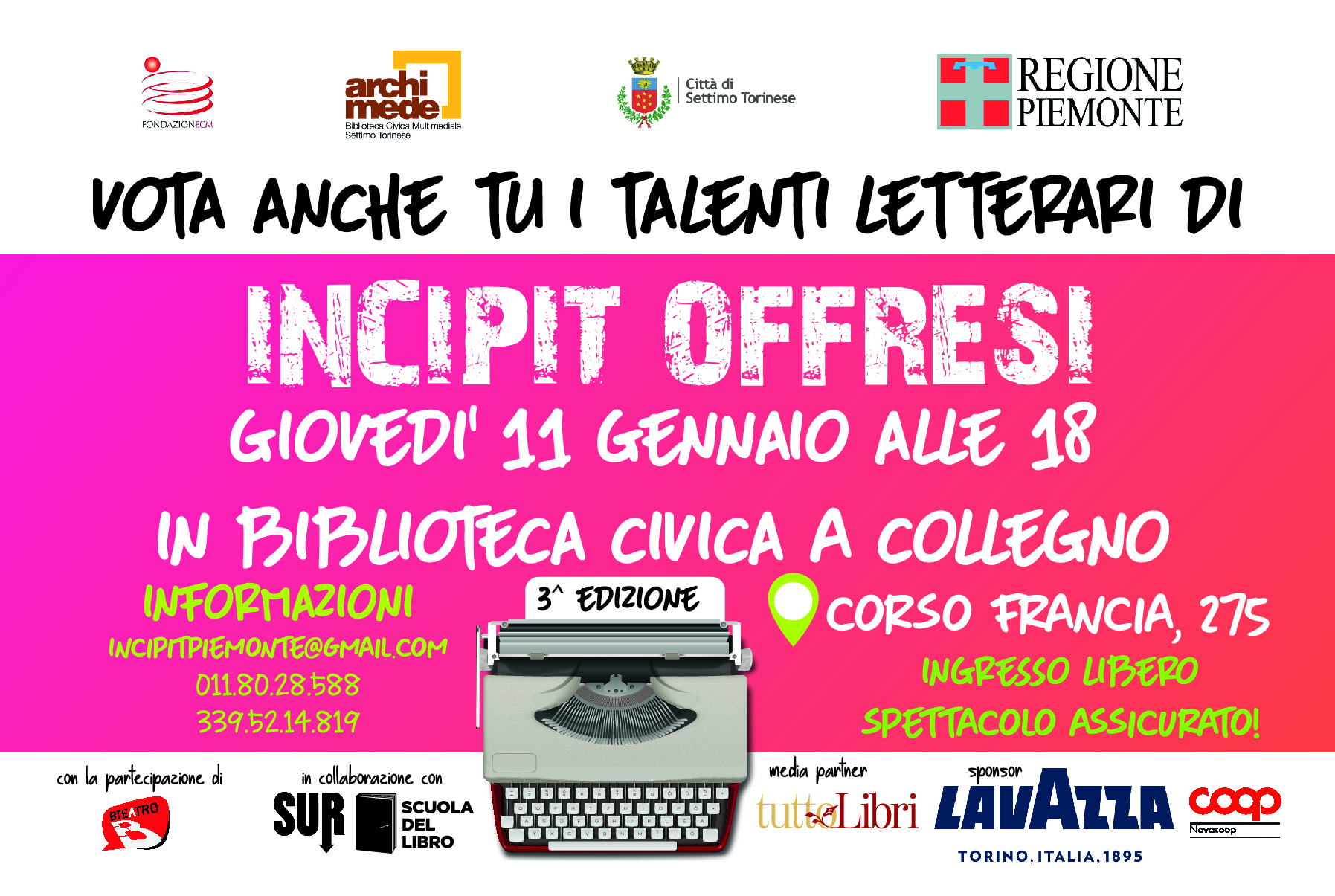 Incipit @ Biblioteca Civica Collegno