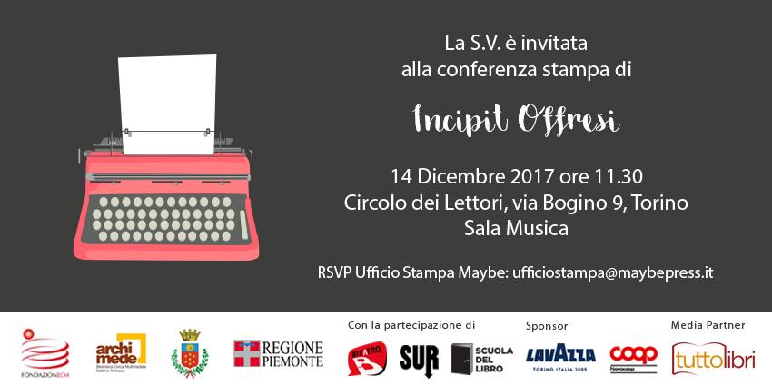 Conferenza stampa Incipit Offresi 3^ edizione
