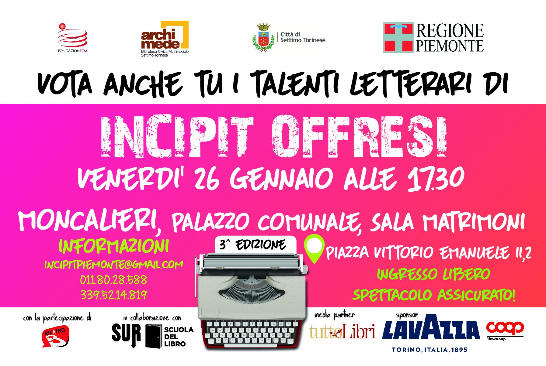 Incipit @ Moncalieri