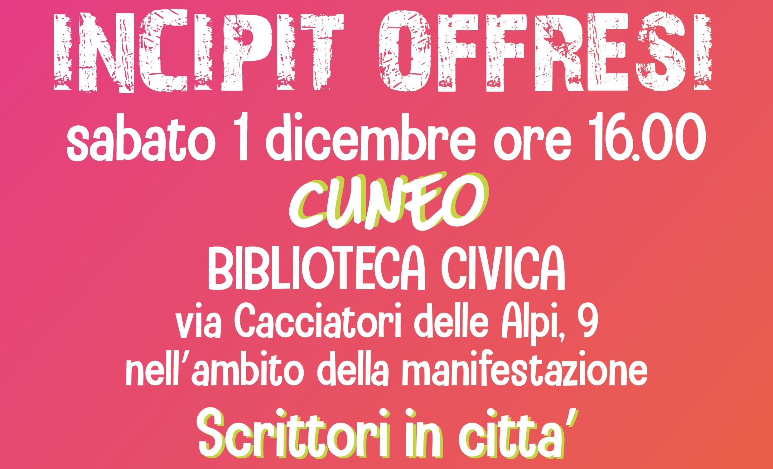 Incipit @ Cuneo